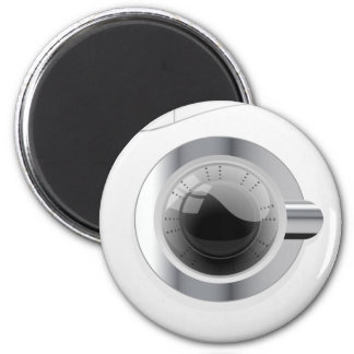 Weiße Waschmaschine Runder Magnet 5,7 Cm