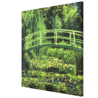 Weiße Wasserlilien durch Claude Monet, Vintage Leinwanddruck