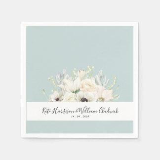 Weiße Wedding Papierserviette der