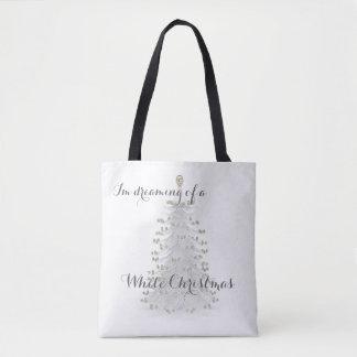 Weiße Weihnachtsbaum-Feiertags-Taschen-Tasche Tasche