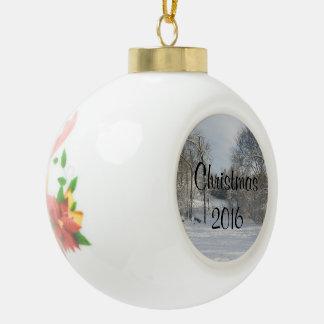 Weiße Weihnachtsbrauch-Mitteilungs-Ball-Verzierung Keramik Kugel-Ornament