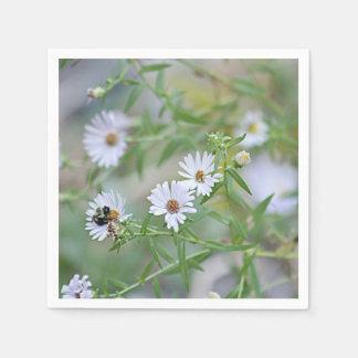 Weiße Wildblumen Papierserviette