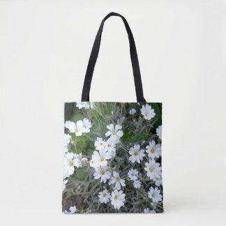 Weiße Wildblumen Tasche