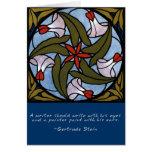 Weiße Winden - Gertrude Stein-Zitat Grußkarte