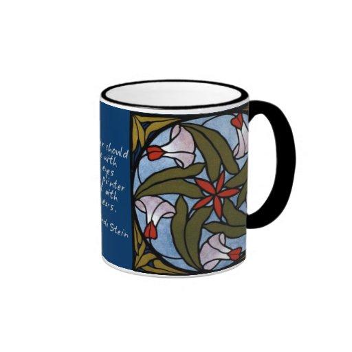Weiße Winden - Gertrude Stein-Zitat Ringer Tasse