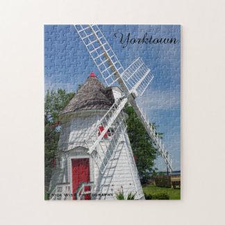 Weiße Windmühle Puzzle