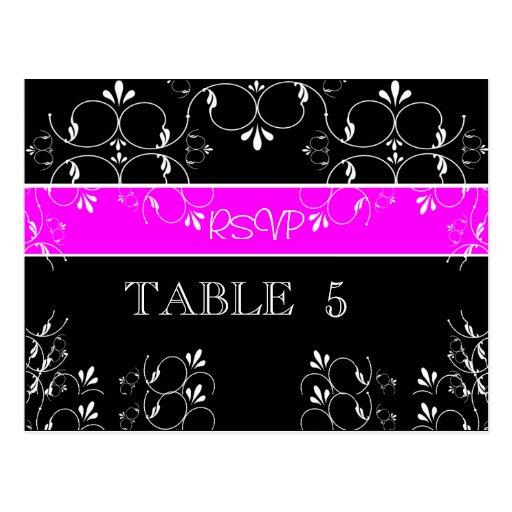 Weiße Wirbel UAWG Tischnummer-Postkarte