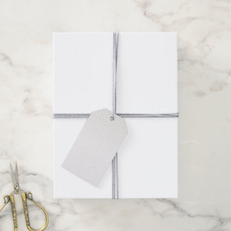 Weiße Würfel Geschenkanhänger