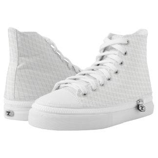 Weiße Würfel Hoch-geschnittene Sneaker