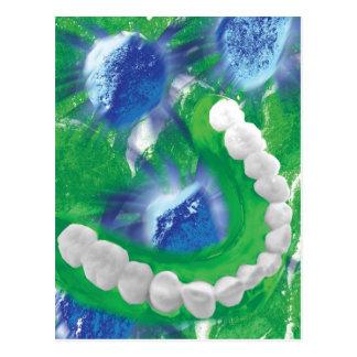 Weiße Zahn-Entwurfs-Zahnarztorthodontist-Karte Postkarte