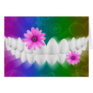 Weiße Zahn-Lächeln-Zahnarztorthodontist-Karte Karte