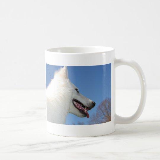 Weißen Schweizer Schäferhunde Kaffeetasse