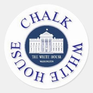 Weissen Sie das Weiße Haus Runder Aufkleber