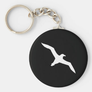 Weißer Albatros Standard Runder Schlüsselanhänger