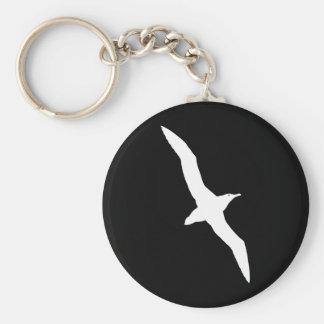 Weißer Albatros-Vogel im Flug Standard Runder Schlüsselanhänger
