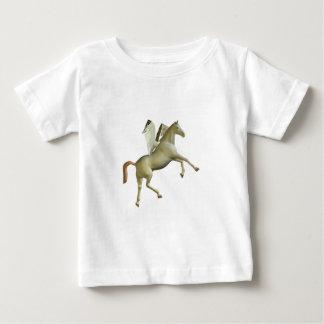 Weißer aufrichtenpegasus baby t-shirt