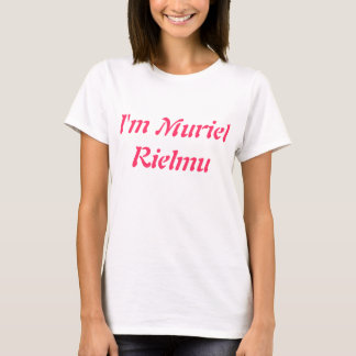 WEISSER AUSLADER FRAU I M MURIEL RIELMU T-Shirt