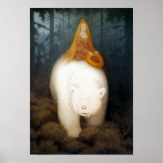 Weißer Bärn-König Valemon Poster