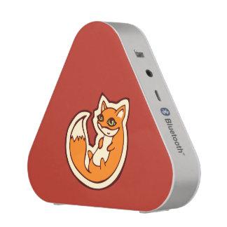 Weißer Bauch niedliche OrangeFox, der Entwurf Bluetooth Lautsprecher