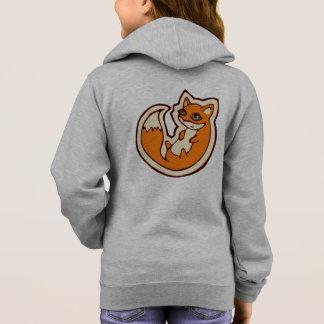 Weißer Bauch niedliche OrangeFox, der Entwurf Hoodie