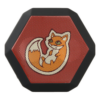 Weißer Bauch niedliche OrangeFox, der Entwurf Schwarze Bluetooth Lautsprecher