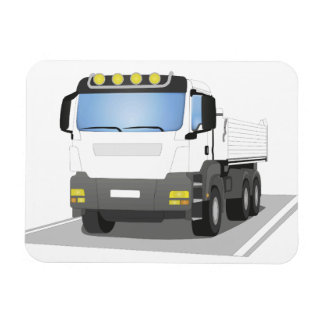 weißer Baustellen LKW Magnet