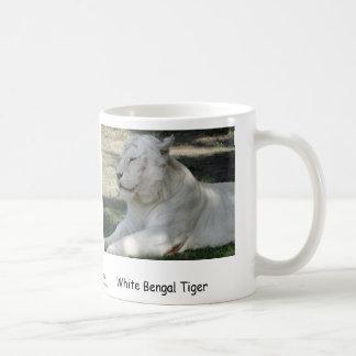 Weißer bengalischer Tiger Kaffeetasse