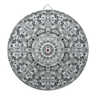 Weißer Blatt-Muster-MetallkäfigDartboard Dartscheibe