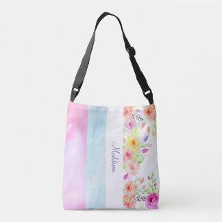 weißer blauer rosa Designer Sommer-Blumen Tragetaschen Mit Langen Trägern