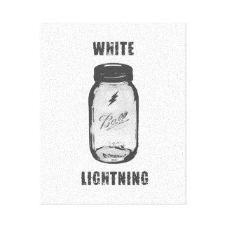 """Weißer Blitz"" Moonshine Glas-Leinwand-Kunst Leinwanddruck"