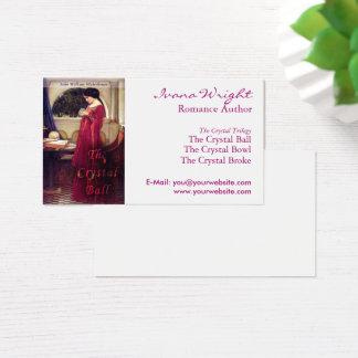 Weißer Bucheinband-Autor Visitenkarte