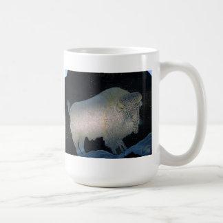 Weißer Büffel Kaffeetasse