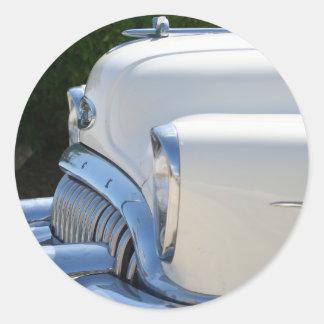 Weißer Buick-Aufkleber Runder Aufkleber