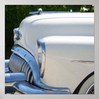 Weißer Buick-Druck Poster