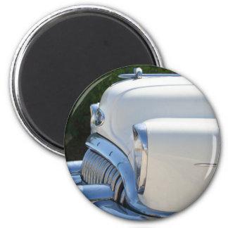 Weißer Buick-Magnet Runder Magnet 5,7 Cm