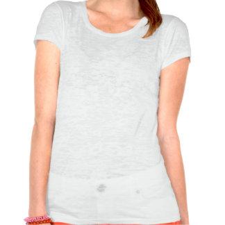Weißer Burnout-Brautt-stück Shirt