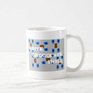 Weißer Choc Strudel Kaffeetasse