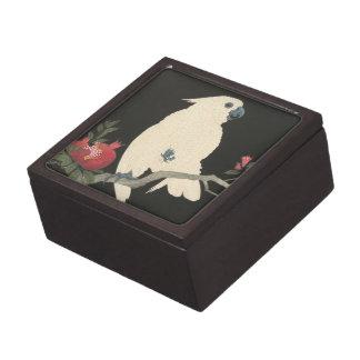 Weißer Cockatoo-Vintage japanische feine Schachtel