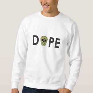 Weißer dekorativer Schädel Crewneck Sweatshirt