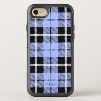 Weißer des Babyhimmels hellblauer/schwarzer OtterBox Symmetry iPhone 8/7 Hülle