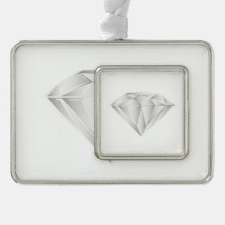 Weißer Diamant für meinen Schatz Rahmen-Ornament Silber