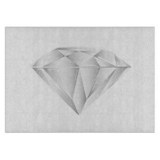Weißer Diamant für meinen Schatz Schneidebrett