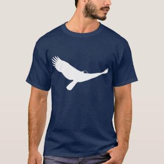 Weißer die Türkei-Geier-Raubvogel im Flug T-Shirt