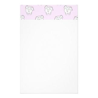 Weißer Elefant-Muster auf Rosa Personalisiertes Druckpapier