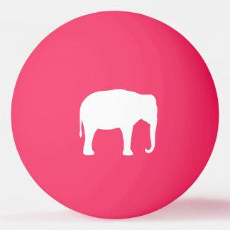 Weißer Elefant-Silhouette Tischtennis Ball