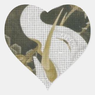 Weißer Elefant und Tiere durch Ito Jakuchu Herz Sticker
