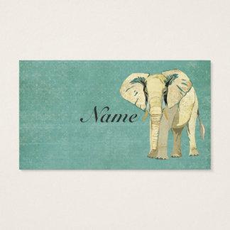 Weißer Elefant-Visitenkarte Visitenkarten