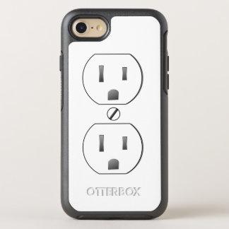Weißer elektrischer Ausgang OtterBox Symmetry iPhone 8/7 Hülle