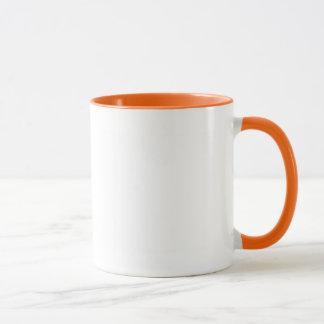 Weißer Farborangen-Wecker Tasse