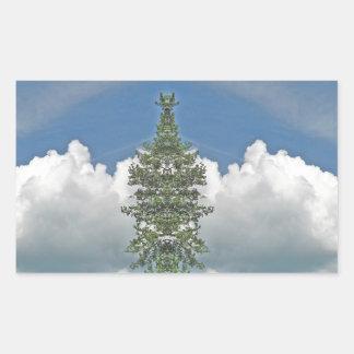 Weißer flaumiger Wolke Kladescope Entwurf Rechteckiger Aufkleber